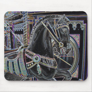 Carousel Roman Charger Mouse Pad