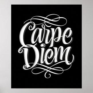 Carpe Diem Motivational Typography Poster