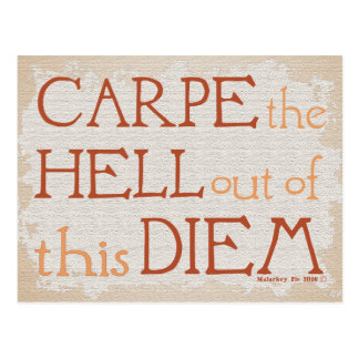 Carpe the Hell Out of this DIEM Postcard