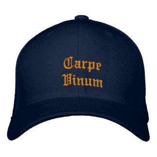 Carpe Vinum (Sieze the Wine) ballcap Embroidered Baseball Cap
