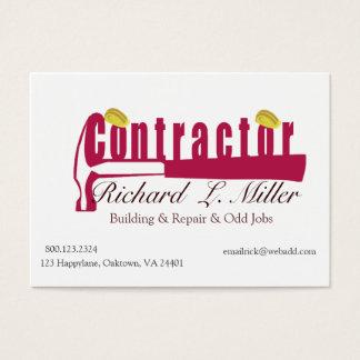 Carpenter Builder Business Card