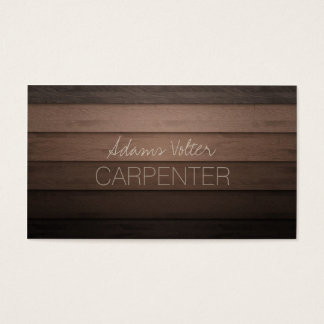 Carpenter Carpentry Woodwork Service Business Card