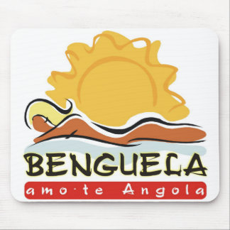 Carpet for rat - I love you Angola - Benguela Mouse Pad