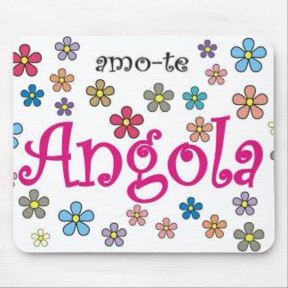 Carpet for rat - I love you Angola - Flores Mouse Pad