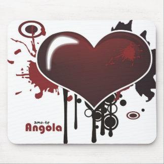 Carpet for rat - I love you Angola - radical heart Mousepads