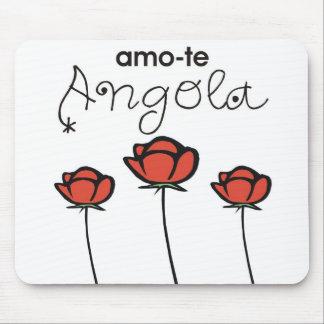 Carpet for rat - I love you Angola Rosa Mousepad