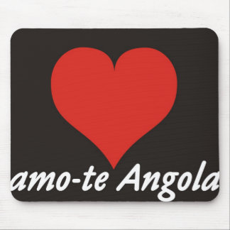 Carpet for the Rat - I love you Angola - of Heart Mouse Pad