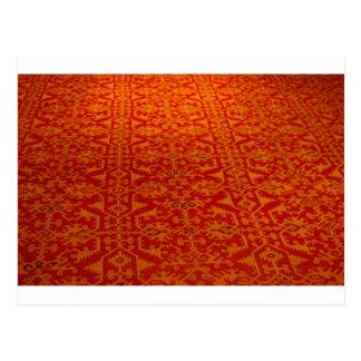 Carpet pattern post card