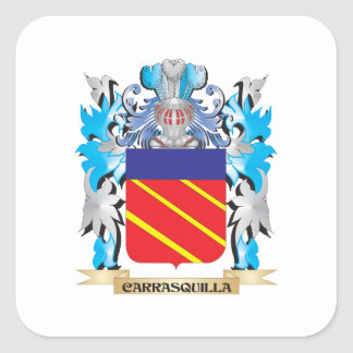 Carrasquilla Coat of Arms - Family Crest Square Stickers