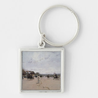 Carriages on the Champs Elysees Key Ring