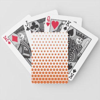 Carrot Orange Polka Dot Modern White Poker Deck