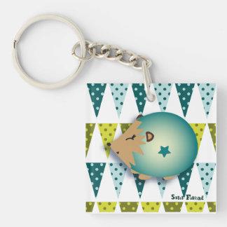 "Carry-key ""blue Hedgehog"" - collection Kiwi Fraud Single-Sided Square Acrylic Key Ring"