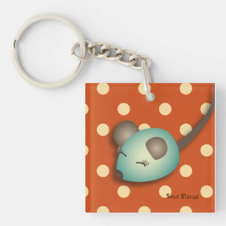 """Carry-key """"green Mouse"""" - collection Kiwi Fraud Single-Sided Square Acrylic Key Ring"""