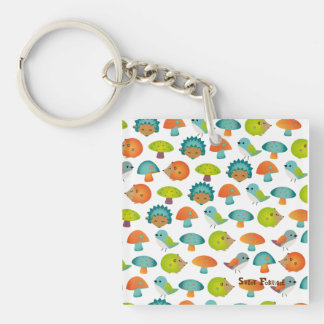 """Carry-key """"In forest"""" - collection Kiwi Fraud Single-Sided Square Acrylic Key Ring"""