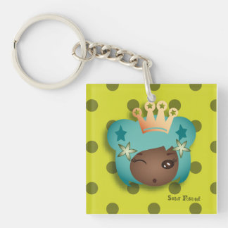"Carry-key ""Mongrel Miss"" - collection Kiwi Fraud Square Acrylic Keychain"