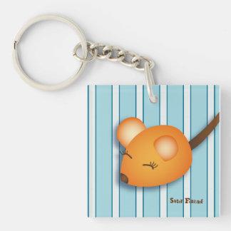 """Carry-key """"orange Mouse"""" - collection Kiwi Fraud Single-Sided Square Acrylic Key Ring"""