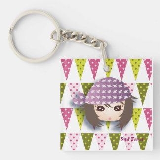 """Carry-key """"Pirate Miss"""" - collection Kiwi Fraud Single-Sided Square Acrylic Key Ring"""