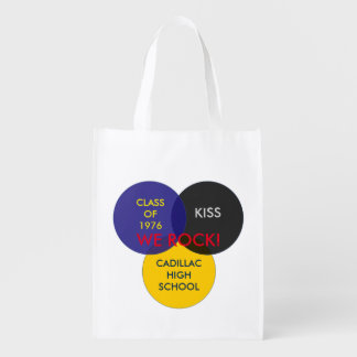 Carry your favorite items in a KISS Class bag! Reusable Grocery Bag