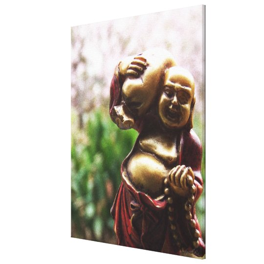 Carrying the Load Buddha Canvas Canvas Print