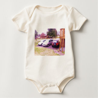 cars.JPG family cars in driveway Baby Bodysuit
