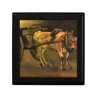 Cart with Red and White Ox by Vincent van Gogh Gift Box