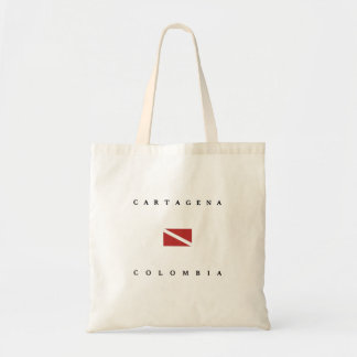 Cartagena Colombia Scuba Dive Flag Tote Bag