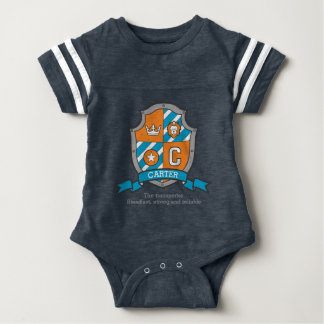 Carter boys C name & meaning boys coats of arms Baby Bodysuit