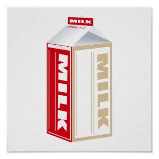 carton of whole milk poster