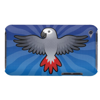 Cartoon African Grey / Amazon / Parrot Barely There iPod Cases