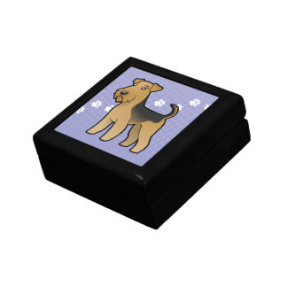 Cartoon Airedale Terrier / Welsh Terrier Gift Box