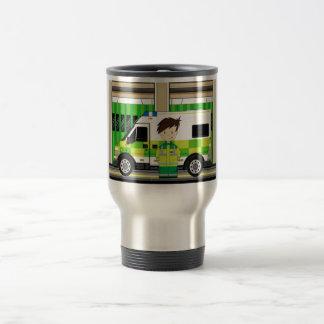 Cartoon Ambulance and EMT Stainless Steel Travel Mug