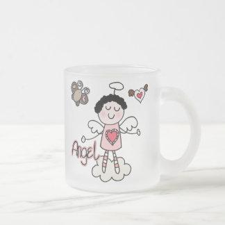 Cartoon Angel Frosted Glass Mug