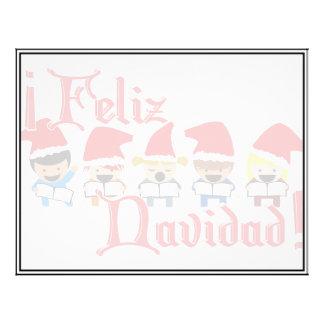 Cartoon Baby Carolers - Feliz Navidad Personalized Flyer
