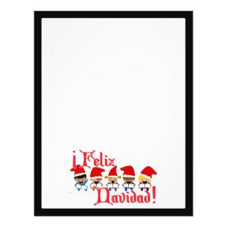 Cartoon Baby Carolers - Feliz Navidad Flyer