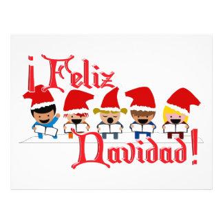 Cartoon Baby Carolers - Feliz Navidad Flyer Design