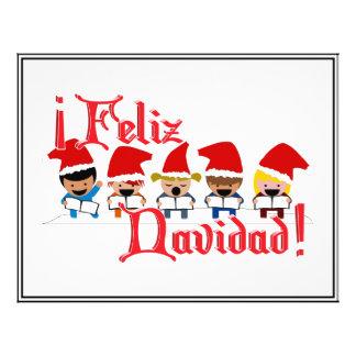Cartoon Baby Carolers - Feliz Navidad Flyers