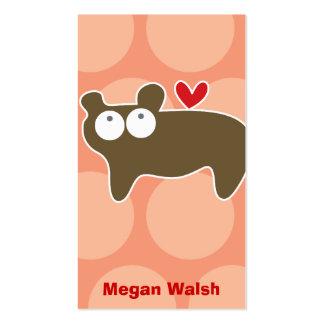Cartoon Bear Kid Fun Custom Photo Profile Card Business Card Template