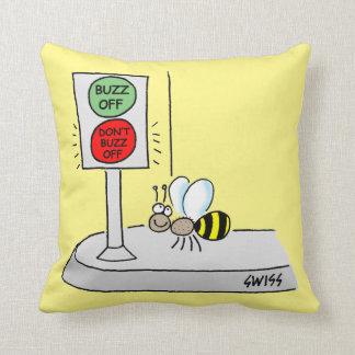Cartoon Bee Crossing at Light Kids Nursery Cushion