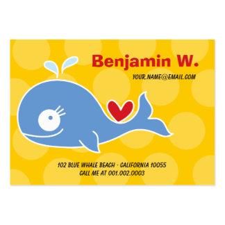 Cartoon Blue Whale Kid Photo Profile Name Card Business Card