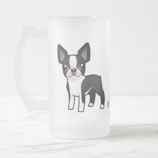Cartoon Boston Terrier Mug