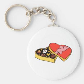 Cartoon Box of Chocolates Basic Round Button Key Ring