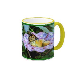Cartoon Butterfly Ringer Coffee Mug
