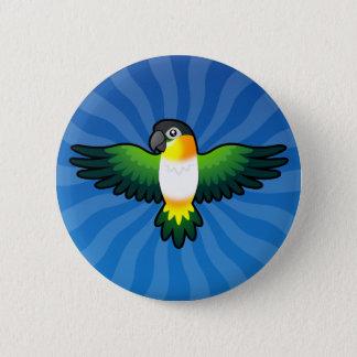 Cartoon Caique / Lovebird / Pionus / Parrot 6 Cm Round Badge