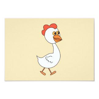 Cartoon Chicken. Card