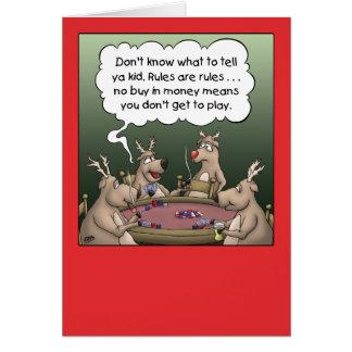 Cartoon Christmas Card: Reindeer Games Card