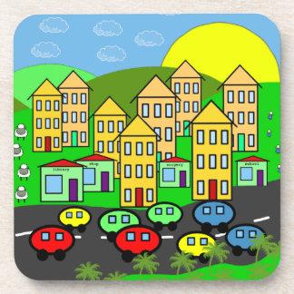 Cartoon City Beverage Coasters