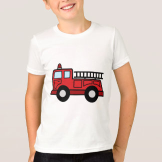 Cartoon Clip Art Firetruck Emergency Vehicle Truck T-Shirt