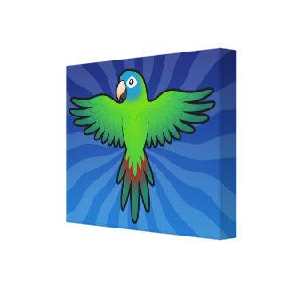 Cartoon Conure / Lorikeet / Parrot Canvas Print
