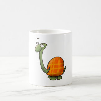 cartoon cute animals - turtle basic white mug