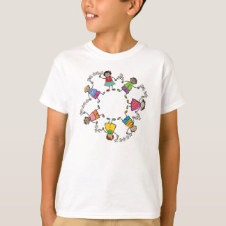 Cartoon Cute Happy Kids Friends Around The World T-Shirt